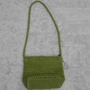 Lina Green Crochet Crossbody Bag